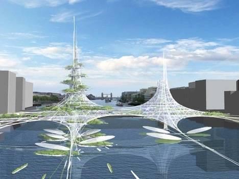 Nejrůznější výročí vždy vyzývají k tomu, aby byla náležitě oslavena. Osmisté výročí otevření prvního mostu přes londýnskou Temži  inspirovalo Královský institut britských architektů k vypsání soutěže o most budoucnosti. Zvítězil projekt studia Chetwood Architects, který spíše než most připomíná malou farmu.