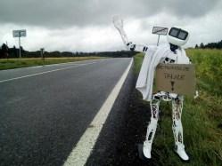 Robotický stopař Matylda míří do Pelhřimova