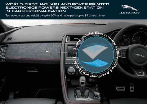 Revoluce v automobilismu: Tištěná elektronika made in JLR
