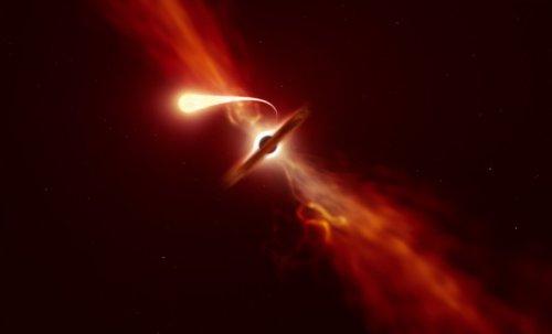 Smrt špagetifikací: Teleskopy zaznamenaly poslední okamžiky hvězdy pohlcené černou dírou