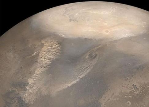 Sklo na Marsu značí zalednění