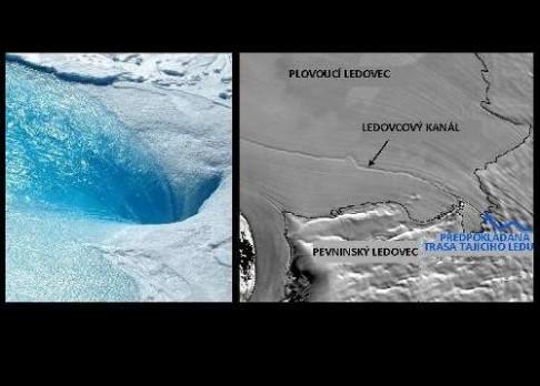 Pod ledovcem byl objeven vodní tunel