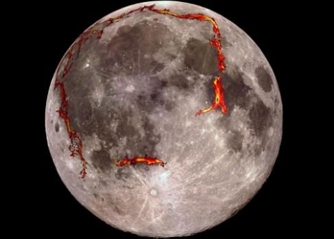 Měsíc skrýval pod povrchem riftová údolí