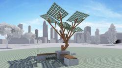 Ve Francii se objevily solární stromy, které dobijí baterky