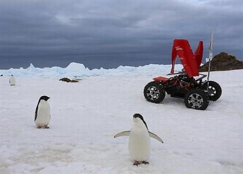 Polární rover poháněn větrem!