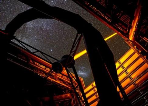 Laserová show obřího teleskopu