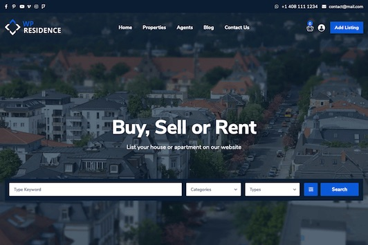 21 techs real estate wordpress theme