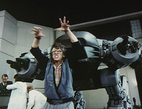 """Paul Verhoeven, he was screaming. Every time the robot was supposed to be moving, he would act it out. He would run through the movements and stuff. If people weren't afraid of a giant prop, they were certainly afraid of him."" - Craig Hayes /ED-209 creator/on the RoboCop set"
