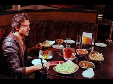 Hrithik Roshan enjoying food