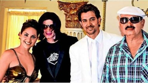 Hrithik Roshan with Michael Jackson