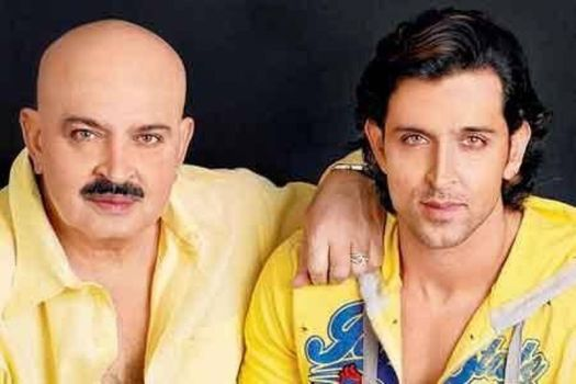Hrithik Roshan with his father Rakesh Roshan