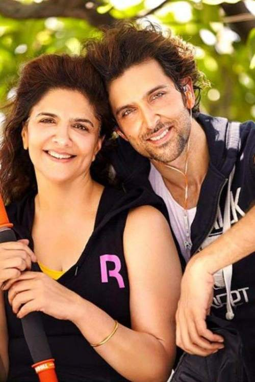 Hrithik Roshan with his mother Pinky Roshan