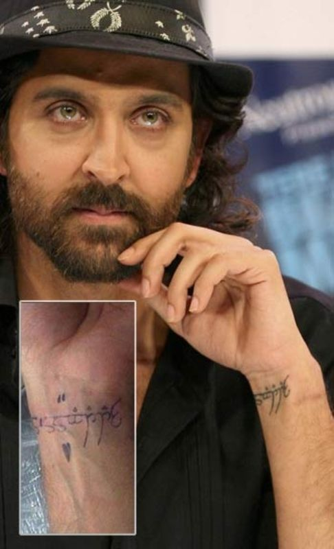 Hrithik Tattoo on Left wrist
