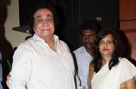 Kader Khan with his wife