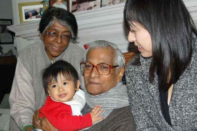 George and Leila with her grandson Ken