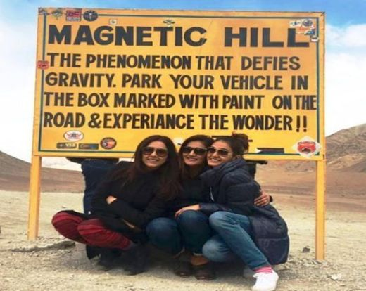 Justice Mohan with his sisters in Ladakh