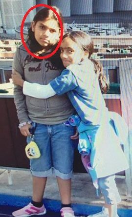 Sharmin Segal (encircled) with her sister
