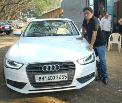 Johnny Lever With His Car