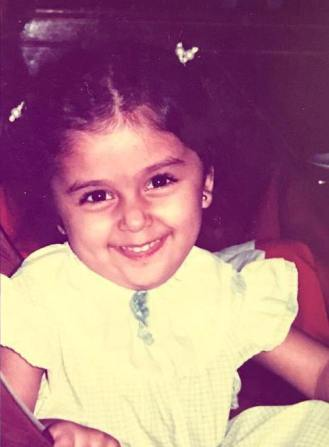 Aarti Chabria in her childhood