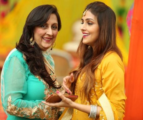 Aarti Chabria with her mother