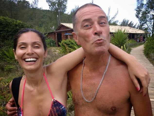 Bruna Abdullah with her father