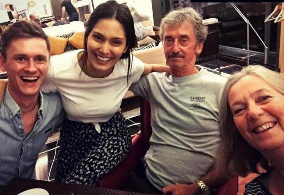 Bruna Abdullah with her husband and parents-in-law