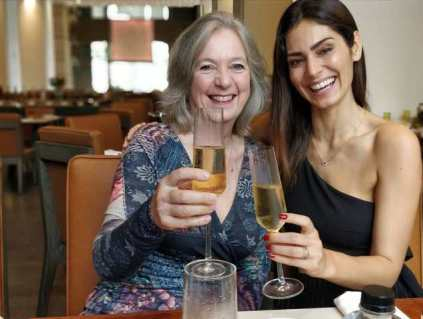 Bruna Abdullah with her mother-in-law Jane Fraser