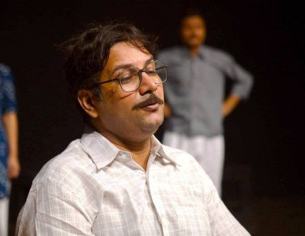 Kumud Mishra Acting in Theatre Play