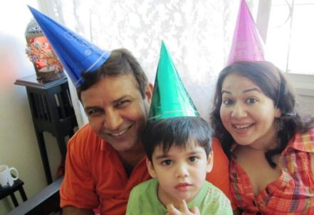 Kumud Mishra with His Family