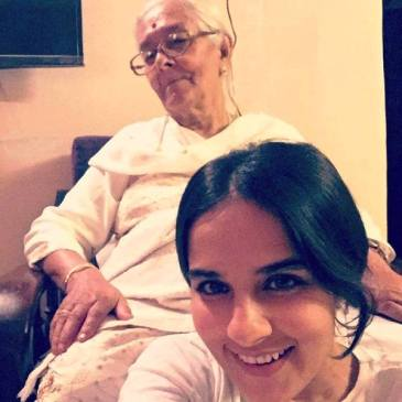 Angira Dhar with Her Grandmother