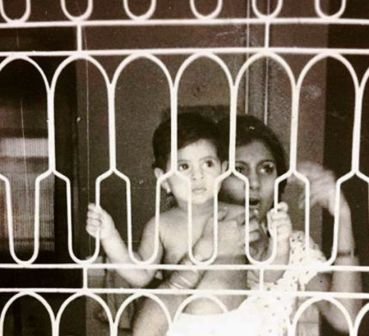 An Old Picture of Jaya with Her Daughter