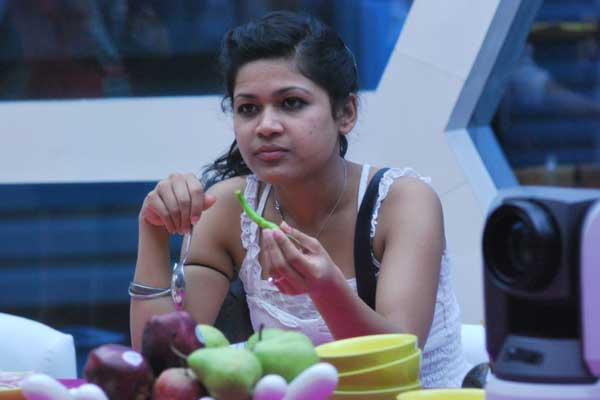 A picture from 2011 showing Nihita Biswas in the Bigg Boss house