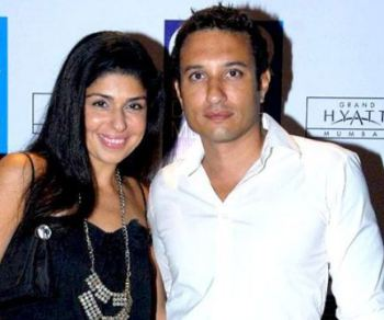 Anaita Shroff Adjania with her husband