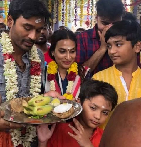 Dhanush with his sons