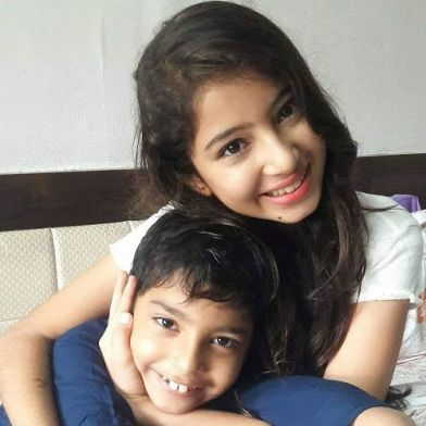 Sara Arjun with her brother