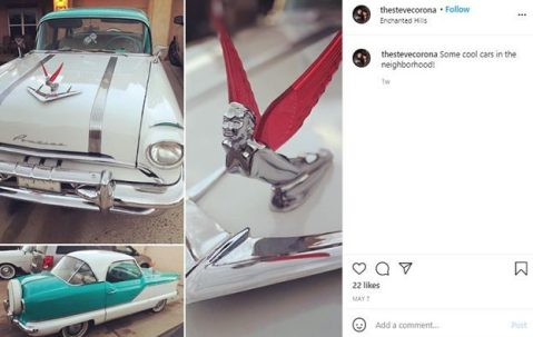 Steve Corona talking about his car in his Instagram post