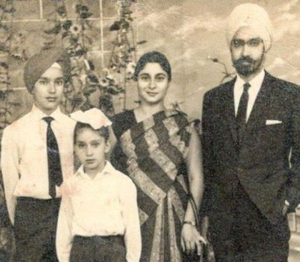 An old picture of Hardeep Singh Puri with his family