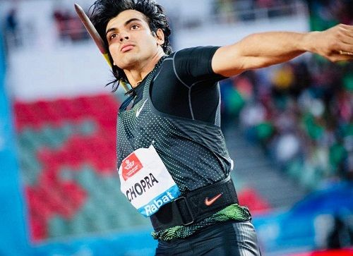 Neeraj Chopra during one of his competitions
