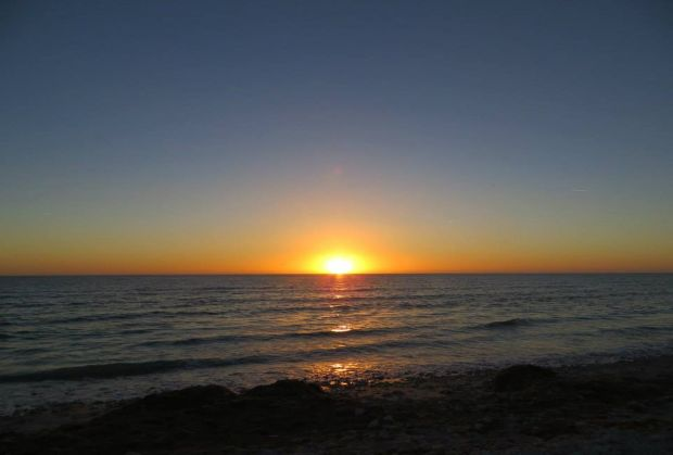 Sun setting over the Gulf of Mexico