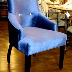 Blue And White Dining Chairs Uk Velvet Chair With Buttons 22 Bond St