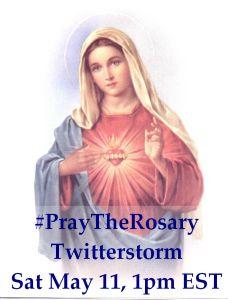 PrayTheRosary Twitterstorm
