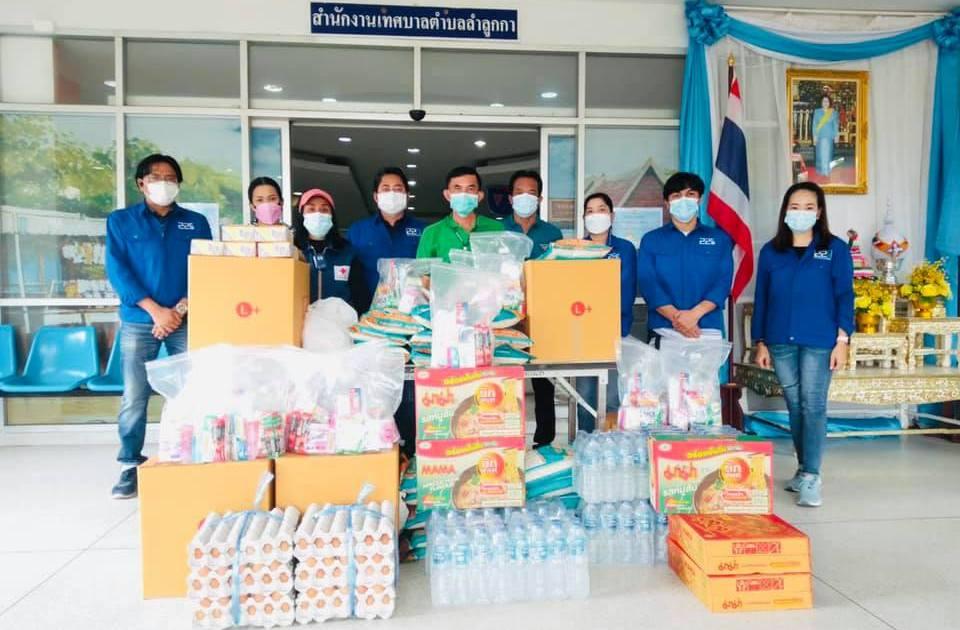 มอบของใช้ให้โรงพยาบาลสนาม ผ่านสำนักงานเทศบาลตำบลลำลูกกา