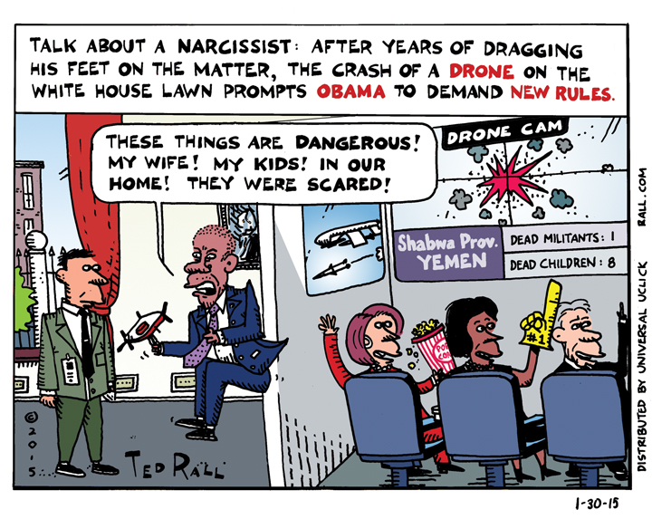 Obama Spooked by Drone
