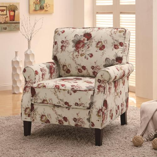 floral upholstered chair pottery barn manhattan coaster accent seating
