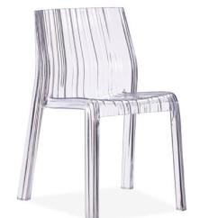 Transparent Polycarbonate Chairs Sure Fit Chair Covers Nz Zuo Modern Dining Accents Set Of 4 Ruffled