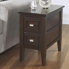 Chair Side Book Stand Cafe Chairs Wooden Larimer Chairside End Table With 2 Drawers From Signature