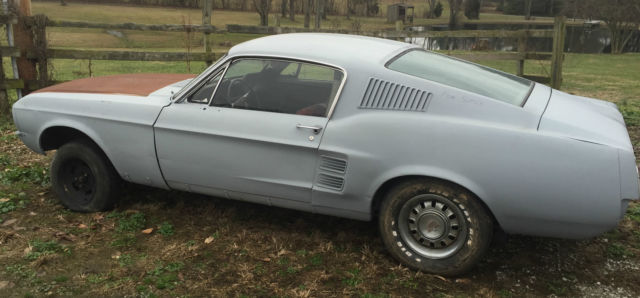 It's a long time massachusetts car and there's rust in the floors. 1967 1968 Mustang Fastback A Code Acapulco Blue Project Awesome Gt Barn Find