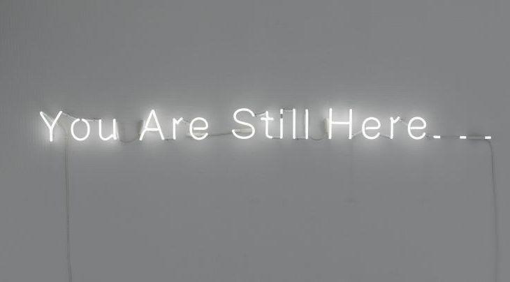 Værk fra copenhagen light festival - værket you are still here