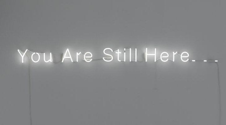 Værk fra copenhagen light festival - værket you are still here