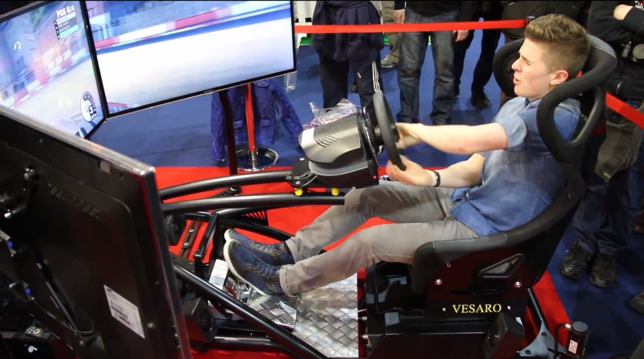 hydraulic racing simulator chair roman situp station computing gaming we are going to build seat on ps4 rather than xbox because it has better graphics and also less issues with system